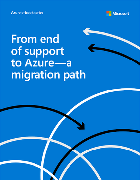 from end of support to azure a path cover page