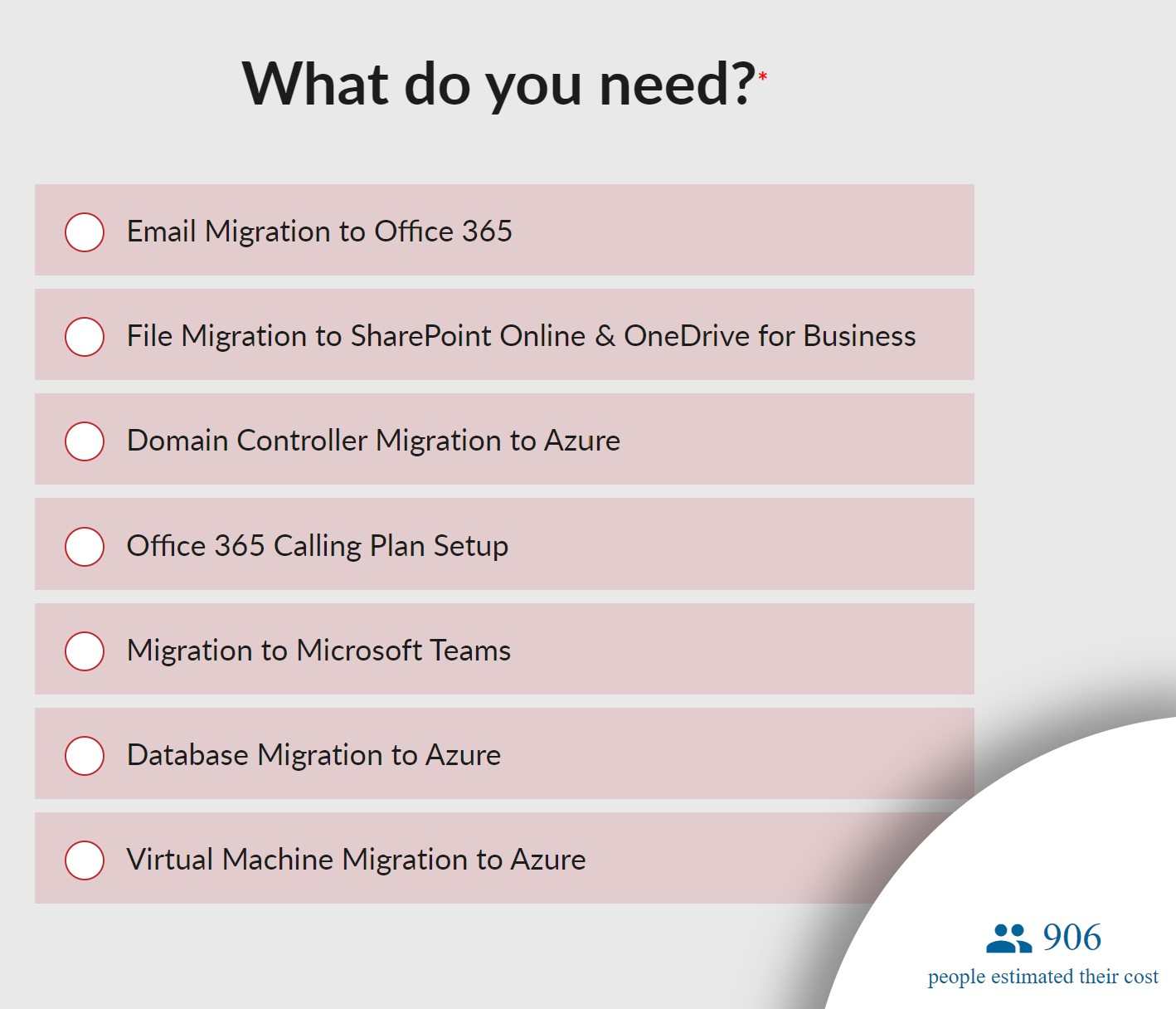 Email Migration Calculator