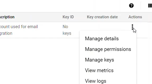 Manage Keys