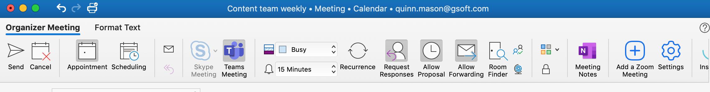 Meeting scheduler Outlook