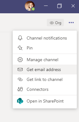 Microsoft Teams Send to Email Address
