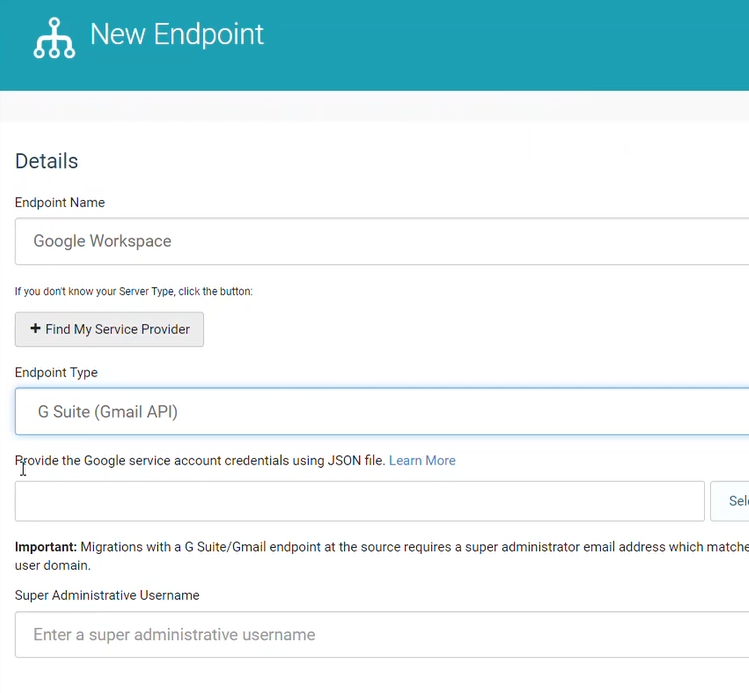 New Endpoint