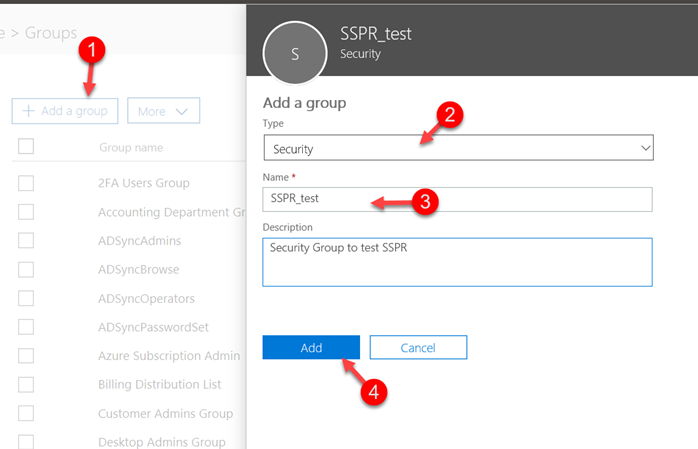 Create Azure Security Group