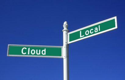 Local storage vs. cloud storage