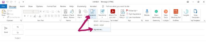 Outlook signatures 2