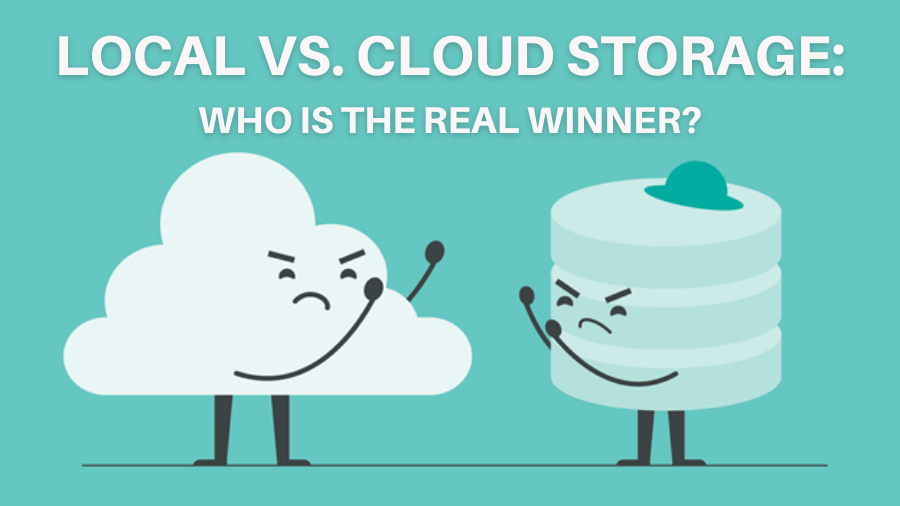 difference between local storage and cloud storage