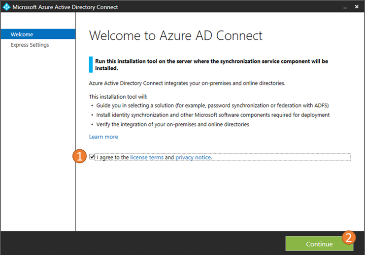 Azure AD Connect Wizard