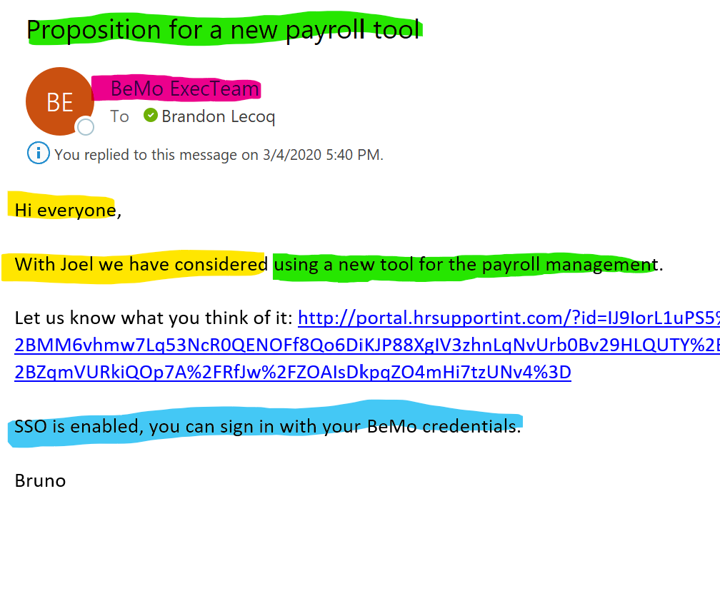 Spear Phishing Example
